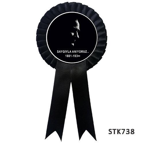 10 Kasım Atatürk'ü Saygıyla Anıyoruz Kokartı ( 100 lü )