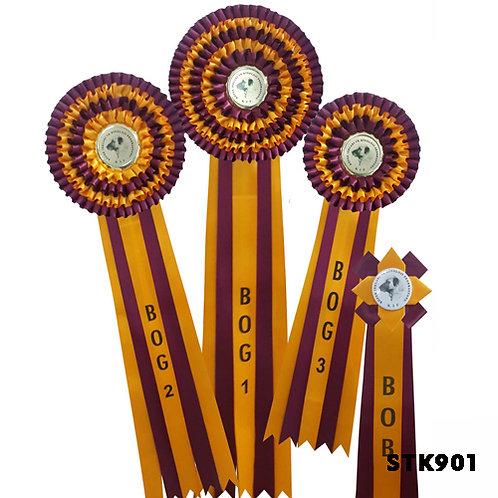 Yarışma Kokartları Köpek Irkları Yarışmaları İçin 4 Lü Set