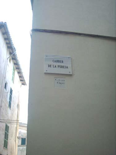 Calle de la Pureza, Mallorca