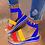 Thumbnail: Open Toe Platform Ankle Strap Elastic Band Color Block Platform Sandals