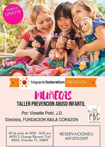MUNECAS TALLER PREVENCION ABUSO INFANTIL