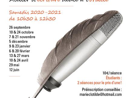 """Atelier d'écriture - Maison de la Poésie -                pour que """" le Micro cause Bic """""""