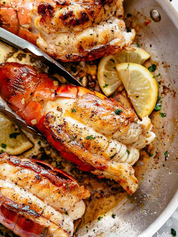 Garlic Butter Roasted Lobster Tails