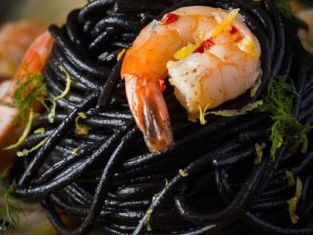 Squid Ink Spaghetti & Shrimp