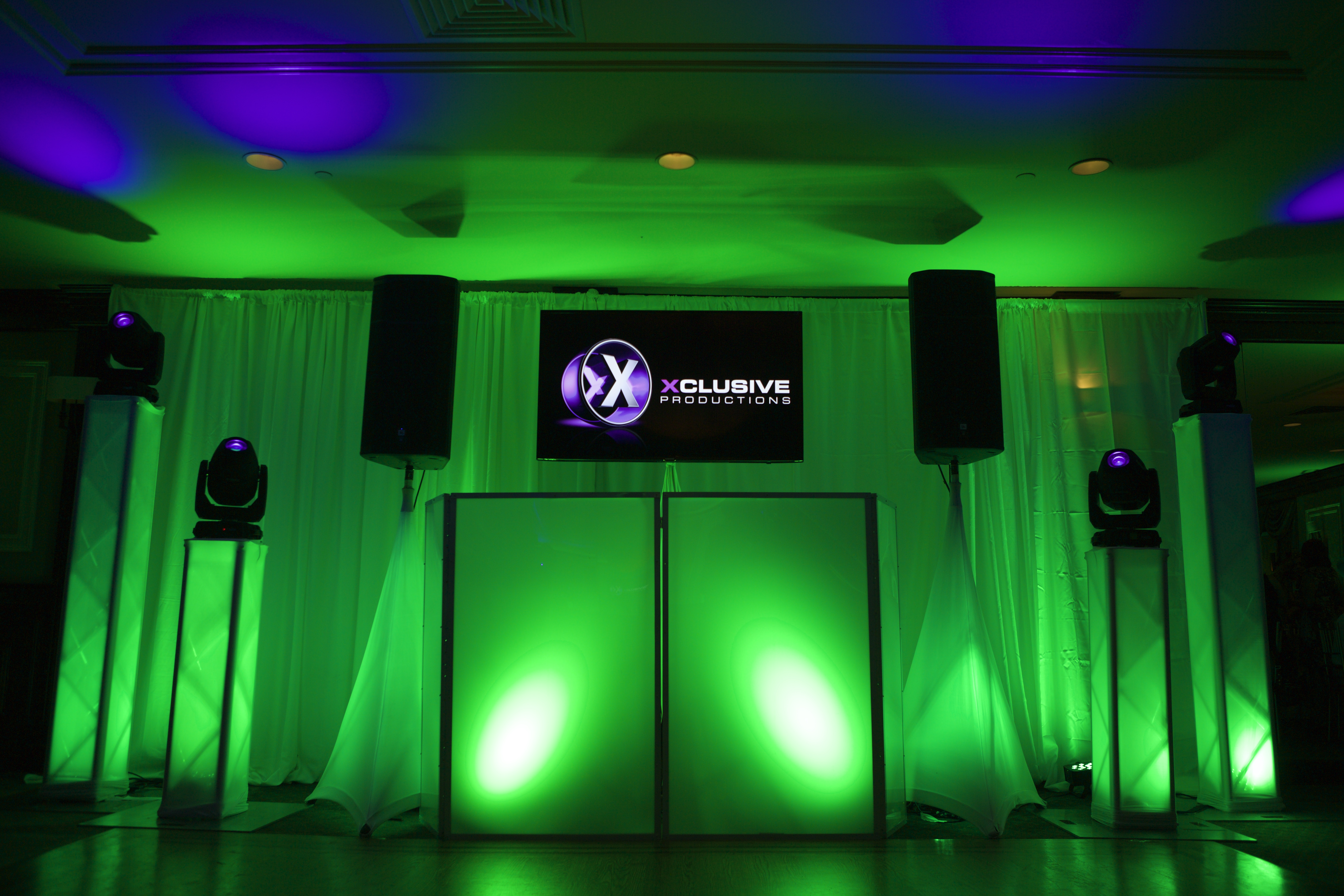 Wedding dj set up