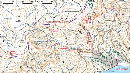 Hike Map Monte Comune Positano