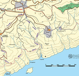 Sant' Agata to Monte Monticchio Hike map
