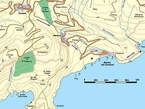Termini Recommone hike map