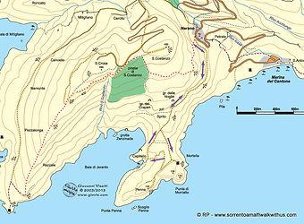 Jeranto Hike map