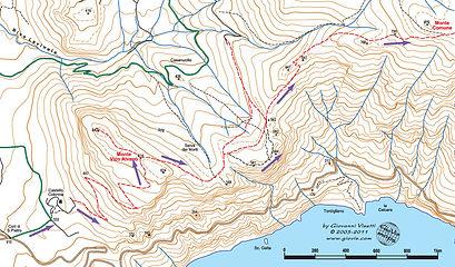 Hike map Vico Alvano Monte Comune