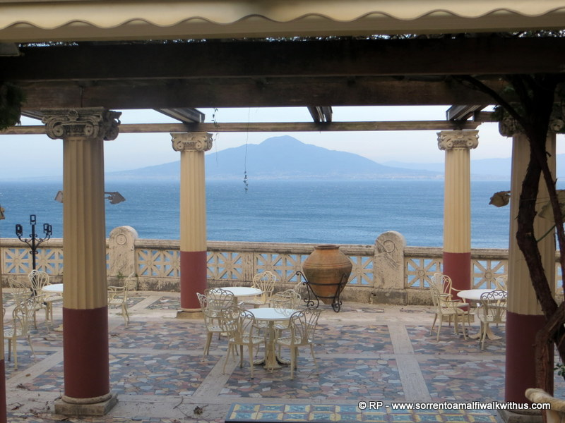 View through Villa Pompeiana