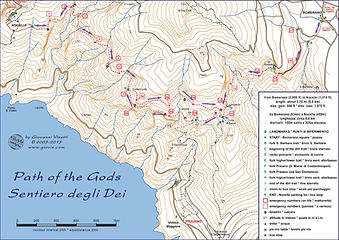 Map Path of the Gods Hike