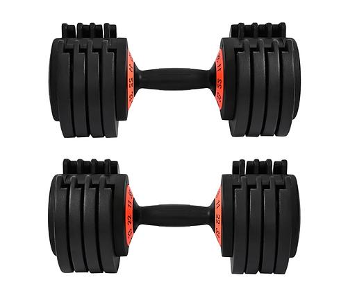 BWSS 70lb Adjustable Dumbbell Pro Set