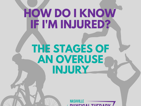 How do I know if I'm injured?  The stages of an overuse injury.
