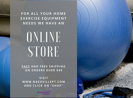 Did you know we have an online store for your home exercise equipment needs?