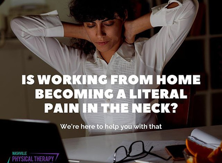 Is working from becoming a literal pain in the neck?