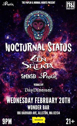 Nocturnal Status & Zen Selekta @ Wonder Bar 02/20