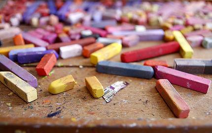 Photo de crayons de couleurs