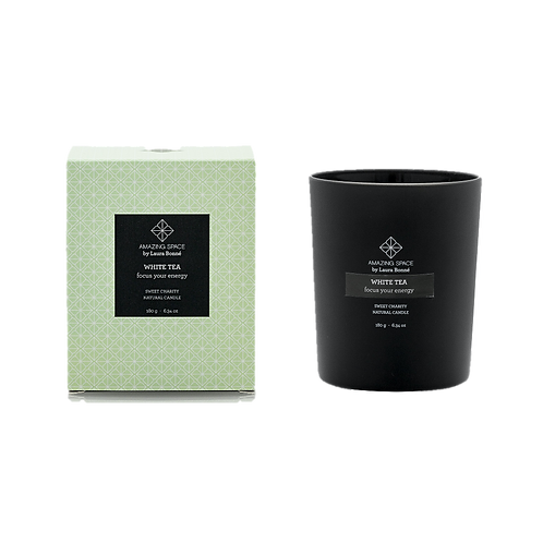 White Tea Candle – Focus Your Energy