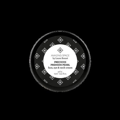 Precious Premium Pearl – Face, Eye & Neck Cream SPF 15, 75 ml.