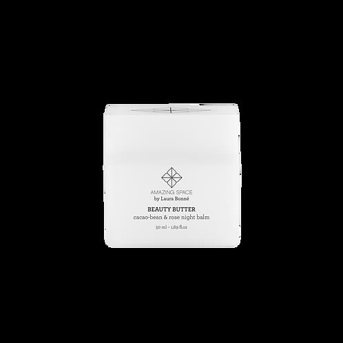Beauty Butter – Cacaobean & Rose Balm Night Balm, 50 ml.