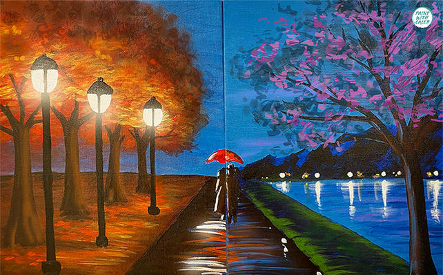 Couple's Rainy Path