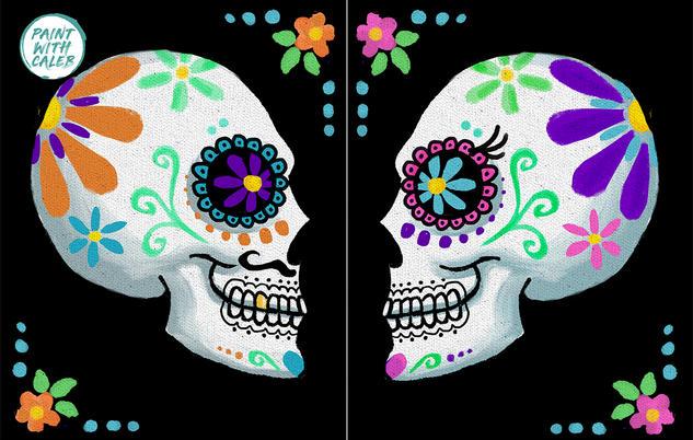 Sugar Skulls - Glow In the Dark