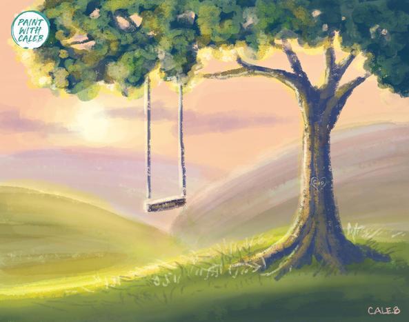 Tree Swing Sunset
