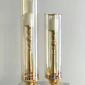Gold 2 set Candle holder
