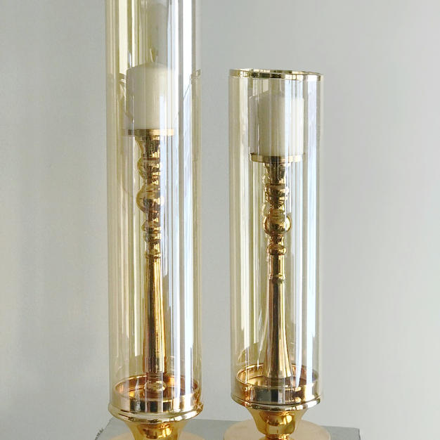 Gold 2 set Candle holder