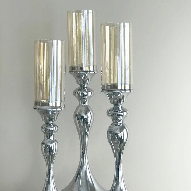 Silver 3 set Candle Holder