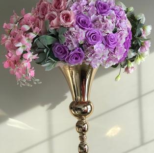 Short Gold Vase