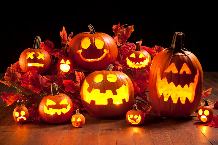 Pumpkins Galore! We will help you carve!