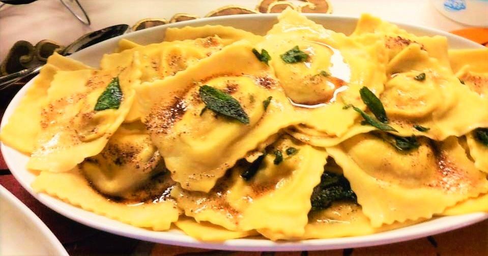 Pumpkin Ravioli with Brown Butter