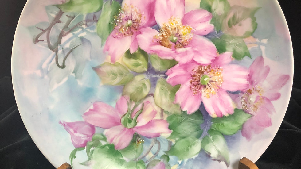 Wild Roses Plate