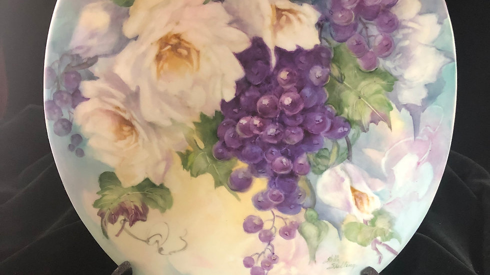 Grape and Rose Tile