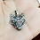 Thumbnail: 925 Sterling Silver Wolf Head Celtic Pendant Necklace /Solid /Quality