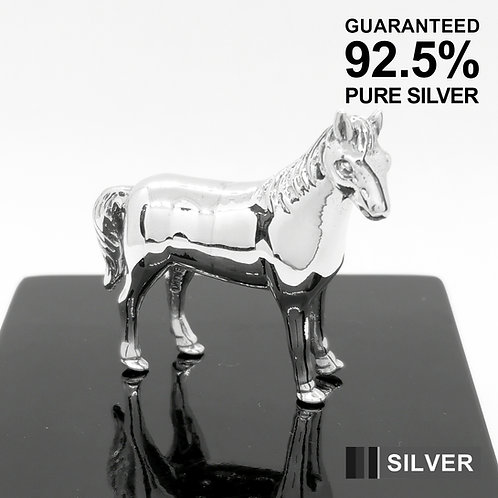 925 Sterling Silver Miniature Horse Animal Figurine / Solid / Quality