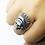 Thumbnail: 925 Sterling Silver 3D RED INDIAN CHIEF SKULL Head Ring / Solid / Oxidised