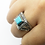 Thumbnail: 925 Sterling Silver Turquoise Filigree Ring / Solid / Oxidised