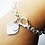 Thumbnail: 925 Sterling Silver Heavy Double Heart Tag T-Bar Bracelet /Quality /Solid