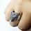 Thumbnail: 925 Sterling Silver Celtic Wolf Head Ring / Oxidised / Solid