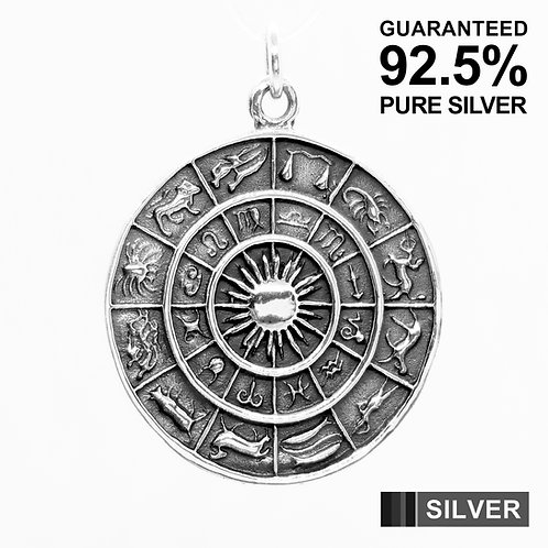 925 Sterling Silver Zodiac Signs and Astrology Signs Pendant / Solid / Quality