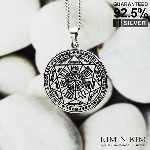 925 Silver Seal of the seven archangels Pendant Necklace / Solid / Quality