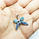 Thumbnail: 925 Sterling Silver Australian OPAL Gemstone Butterfly Pendant / Solid / Quality