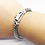 Thumbnail: 925 Sterling Silver Foxtail link Bracelet /Solid /Secure clasp /Oxidised
