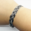 Thumbnail: 925 Sterling Silver Braided Wire Open Cuff Bangle /Quality /Solid /Oxidised