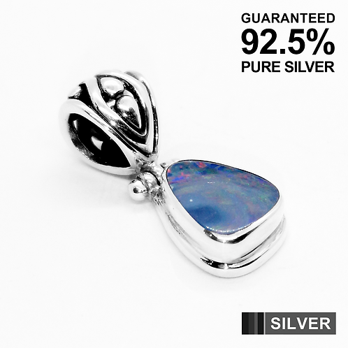 925 Sterling Silver Australian OPAL Gemstone Pendant / Quality / Solid