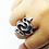 Thumbnail: 925 Sterling Silver Heavy Double Snake Gothic Ring / Solid / Oxidised