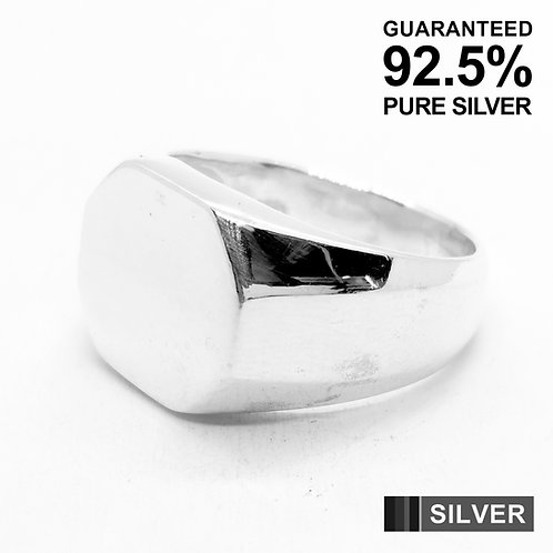 925 Sterling Silver Engravable Octagon Signet Ring / Quality / Solid